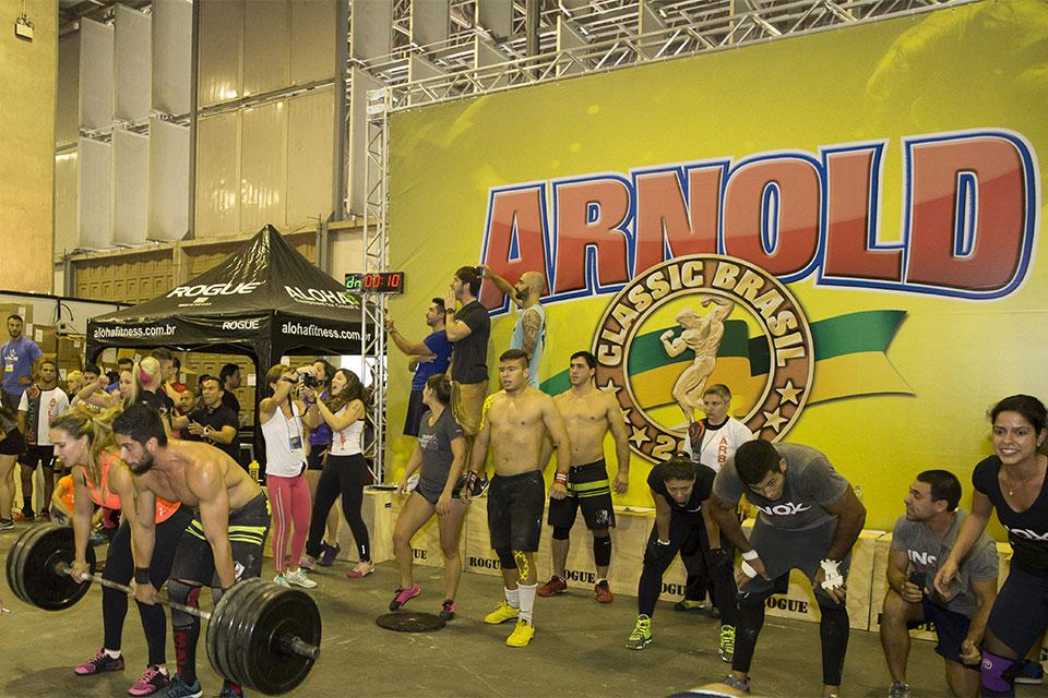 Disputa de Crossfit no Arnold Classic Brasil 2015. Foto: Divulgação