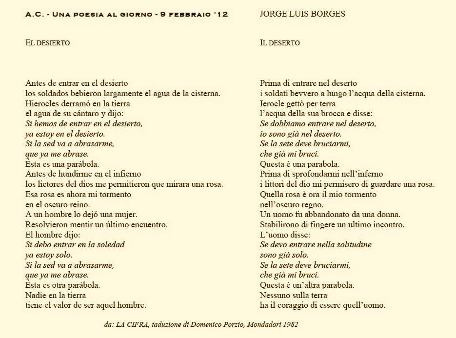 Caponnetto Poesiaperta Jorge Luis Borges Dos Poemas Due Poesie