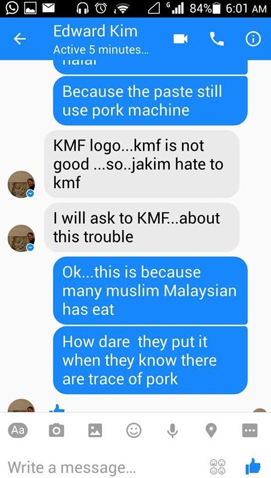 Megi Ramyeon Chicken Mania Mengandungi Babi