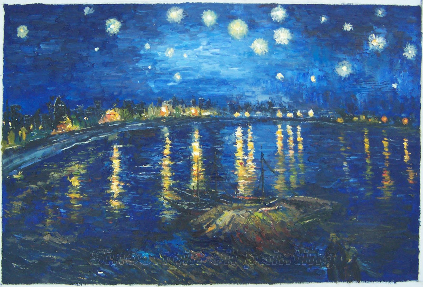 Paintings Gallery: Starry Night over the Rhone A Famous ...