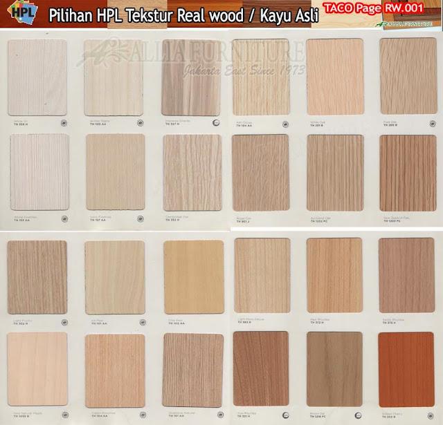 RW.01 HPL Taco motif tekstur kayu asli