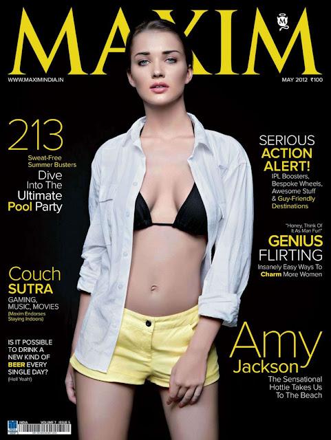 Amy Jackson on Maxim Cover 2012