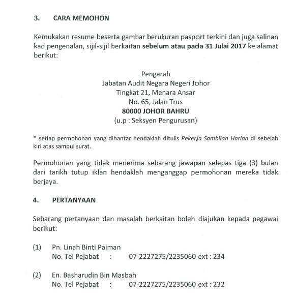 Jawatan Kosong di Jabatan Audit Negara