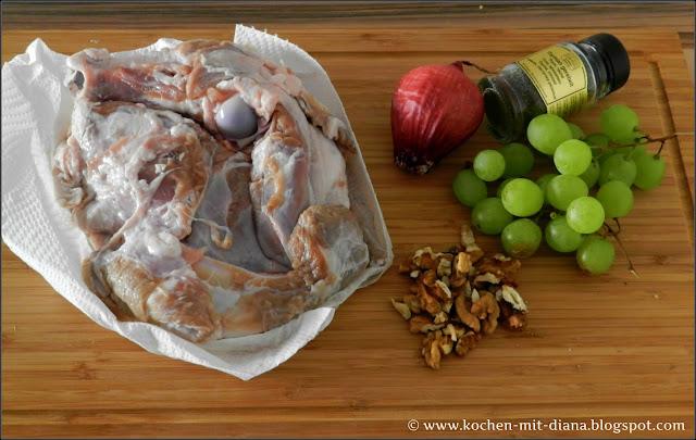 Zutaten Lammragout mit Trauben