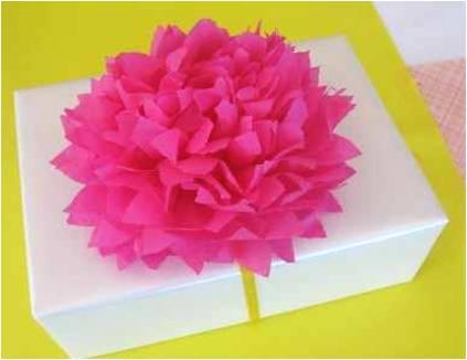 Arte color flores de papel seda papel china o papel crep - Envolver regalos con papel de seda ...