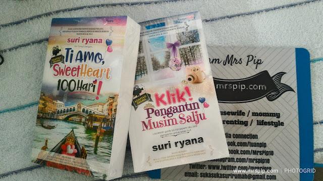 Beli novel murah 'Ti Amo Sweetheart 100 hari' dan 'Klik! Pengantin Musim Salju' karya Suri Ryana