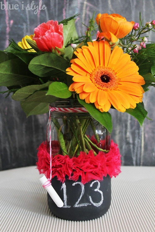 Teacher Appreication Chalkboard Mason Jar Vase