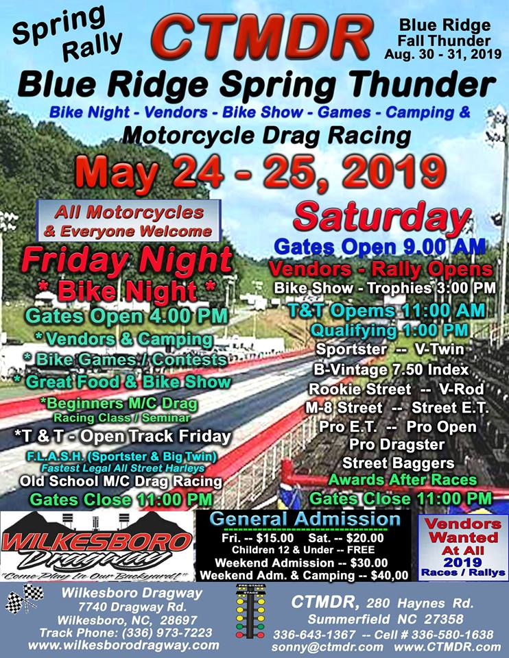 Wilkesboro, NC Motorcycle Drag Racing