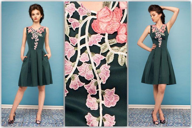 b44116c4ed MONNOM BOUTIQE Wizytowa sukienka z elegancką koronką ALI