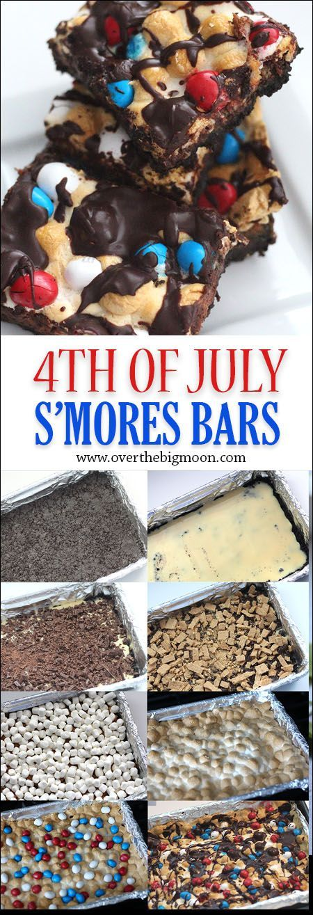 4th of July S'mores Bars