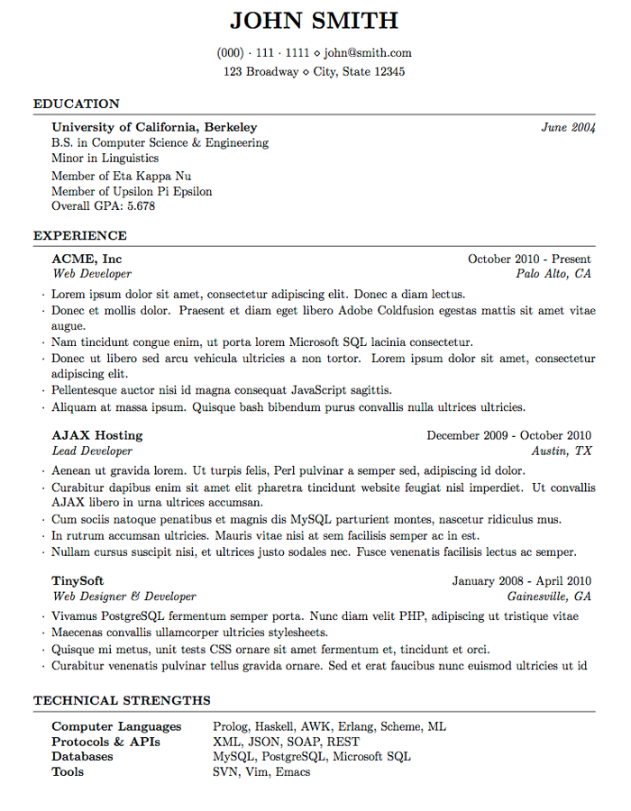 difference french english cv