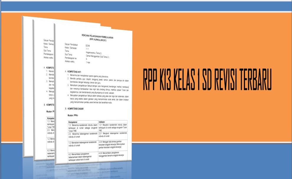 Rpp K13 Kelas 1 Sd Revisi Terbaru Infoguruku