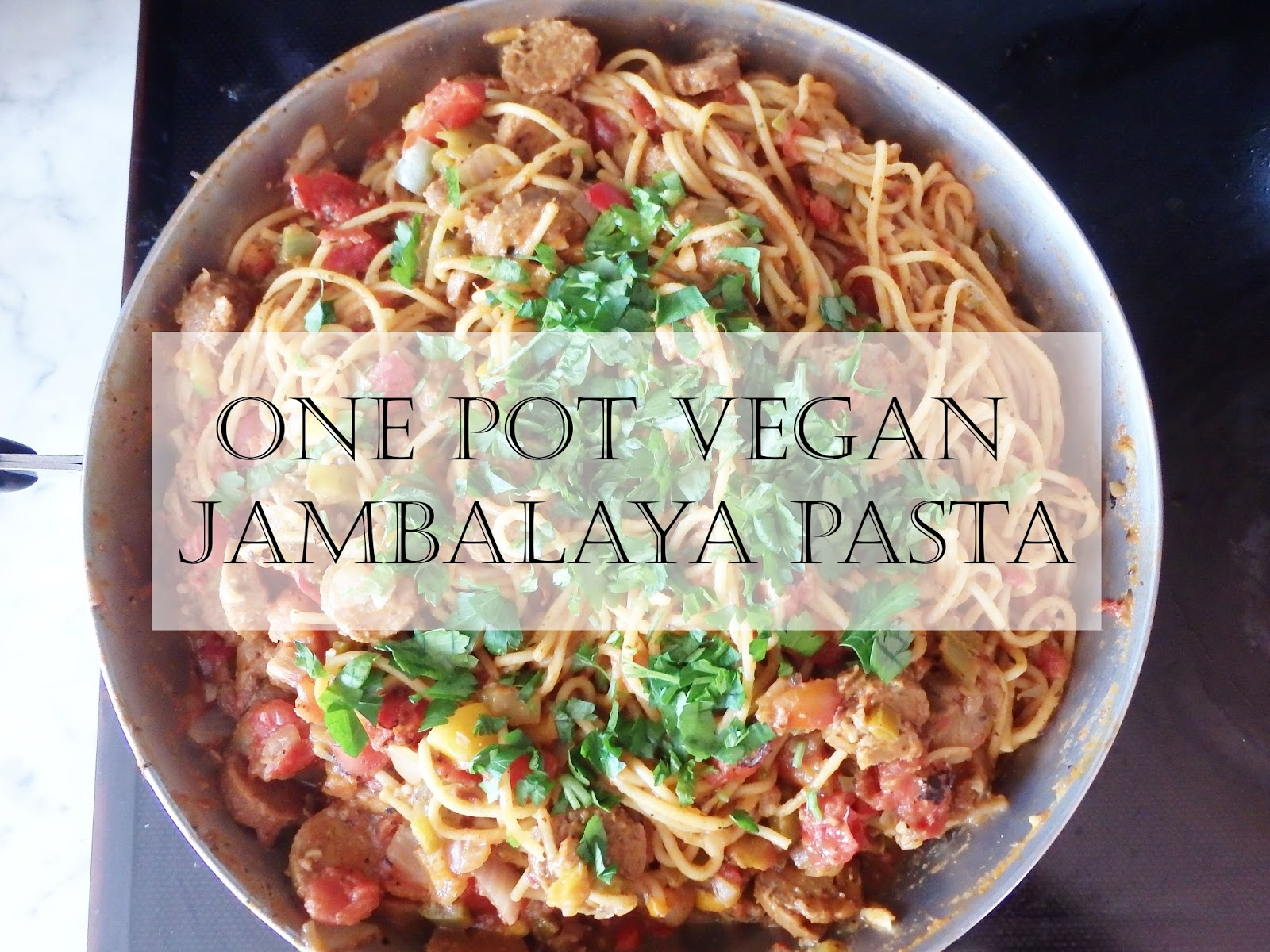 One Pot Vegan Jambalaya Pasta