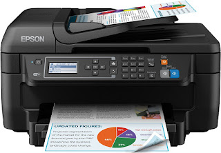 Fax and Print Epson Printer £59.99 + £15 cashback , Series WF-2750DWF colour black