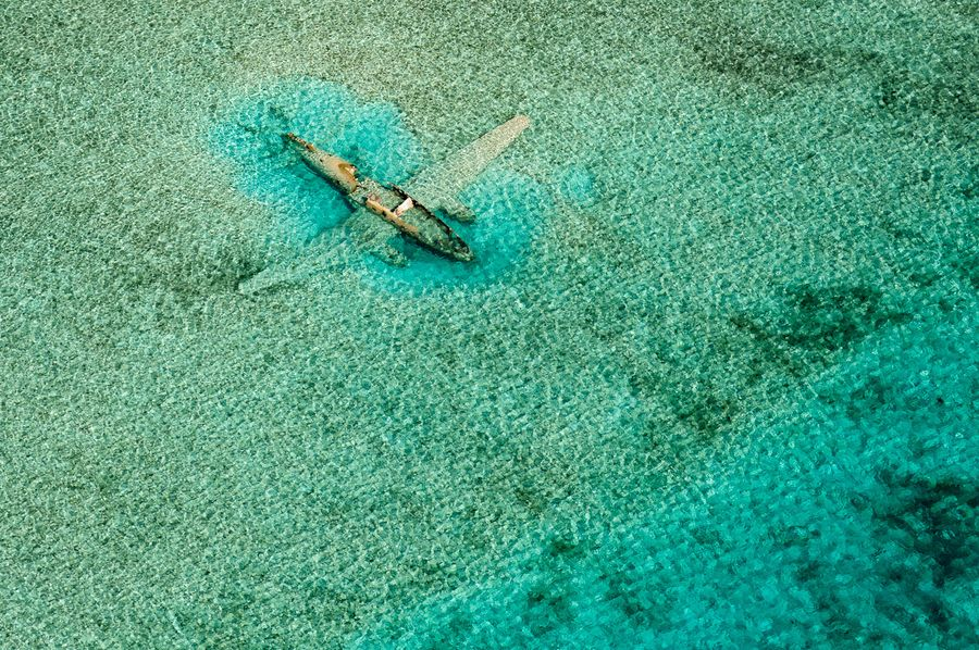 16. Crashed Curtiss C-46 aircraft near Norman's Cay, Exumas, Bahamas by Bjorn Moerman