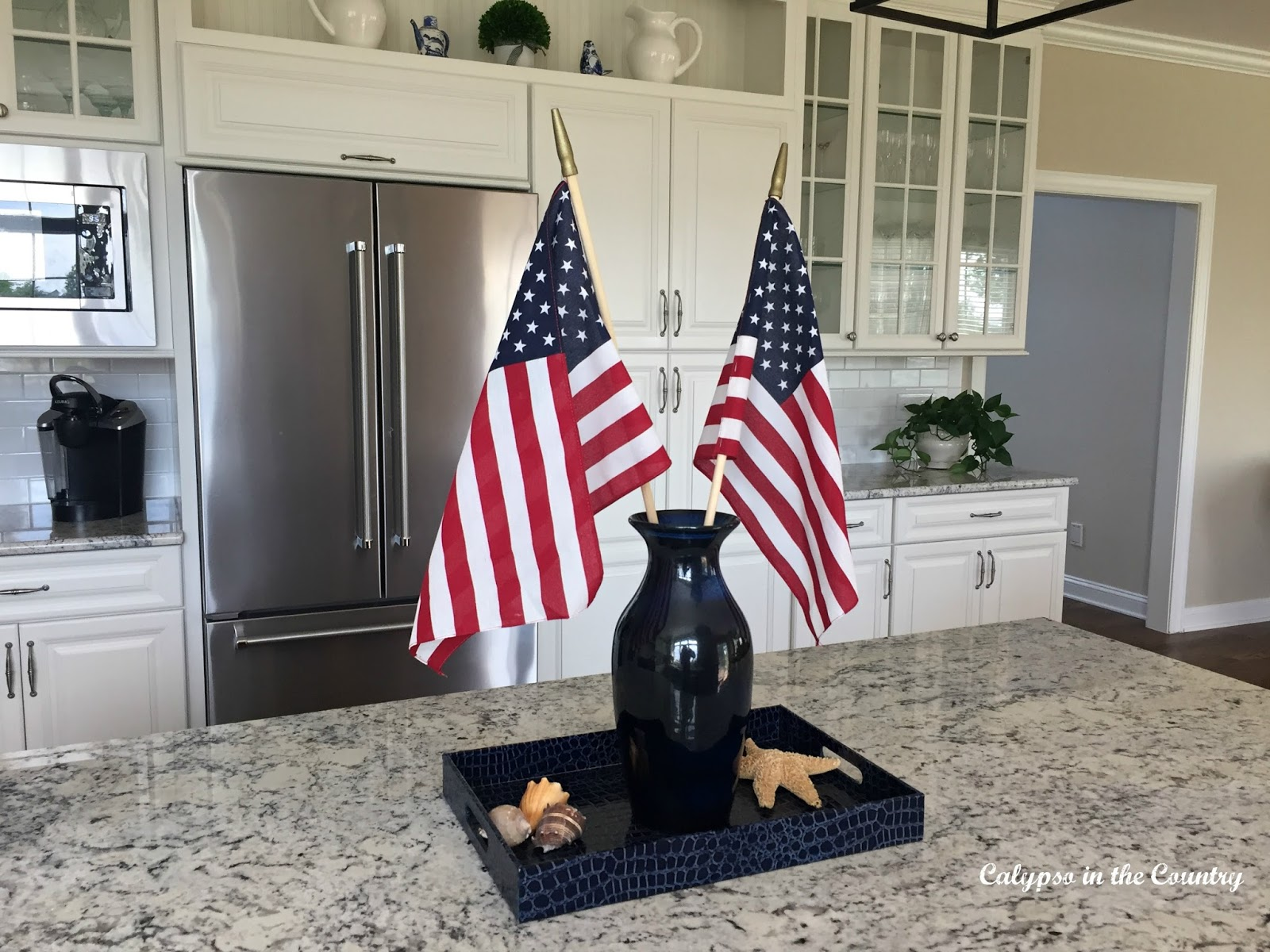 Flags in the Kitchen for the 4th of July
