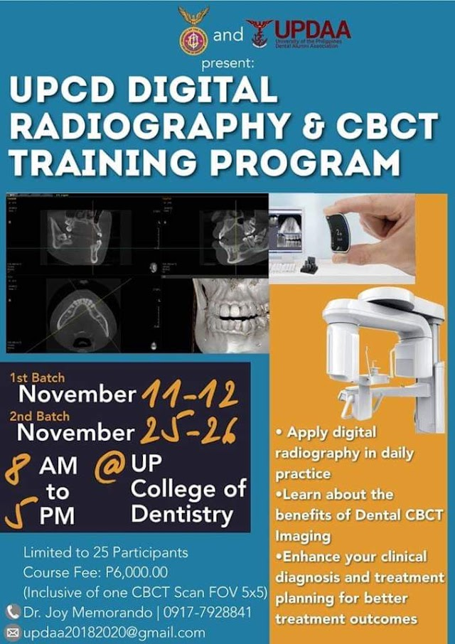 UPCD DIGITAL RADIOGRAPHY & CBCT TRAINING PROGRAM