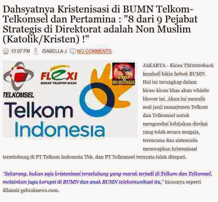 http://duniamuallaf.blogspot.com/2014/10/dahsyatnya-kristenisasi-di-bumn-telkom.html#more