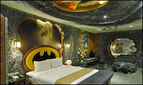 Habitación decorada Batman