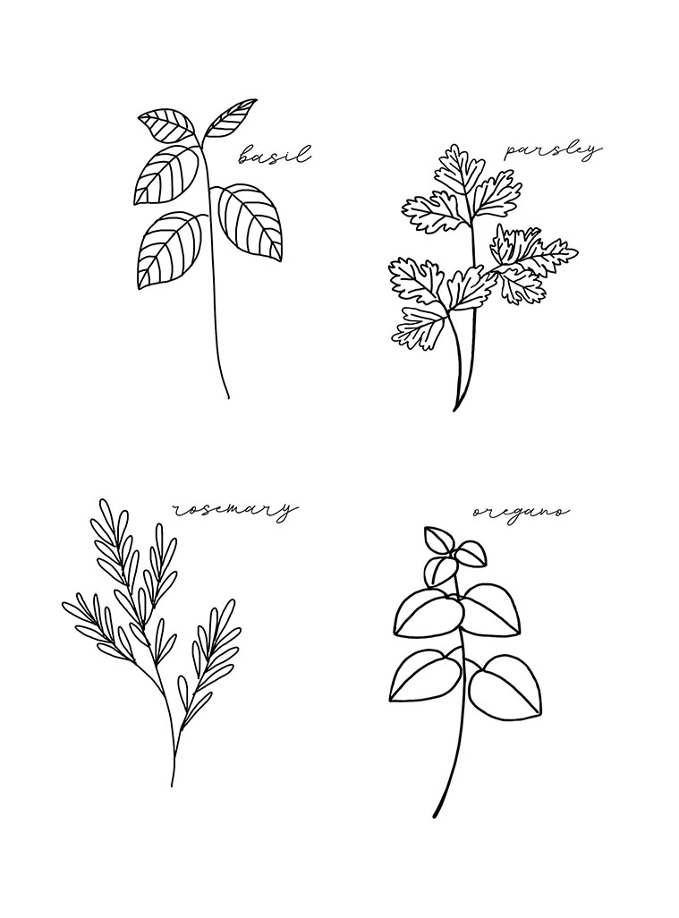 Spring Herbs Printable - My Someday in May