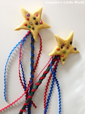 Sugru beaded fairy wands craft for children