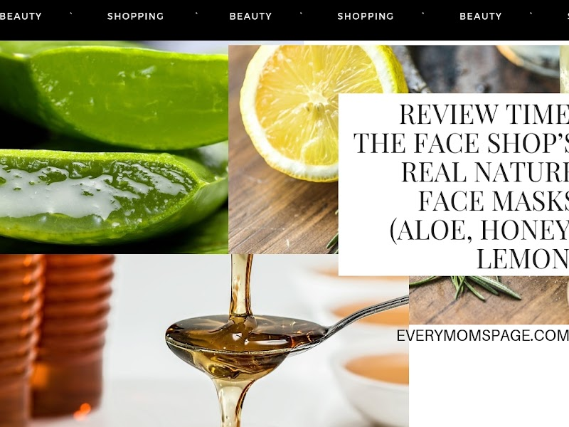 Review Time: The Face Shop's Real Nature Face Masks (Aloe, Honey, Lemon)