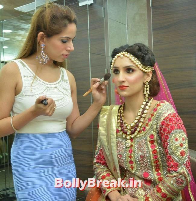 Makeup Expert Nancy Mriglani with Aanchal Oberoi, Hair and Makeup Studio 'ANGE', Launch Pics