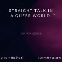 Jive in the [415] logo has a photo of the galaxy with a pink 'queer' world.