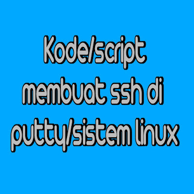 Kode script linux membuat ssh