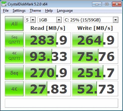 тест на Netac NT620 под Windows 7 в Dell Studio 1555 с драйвери