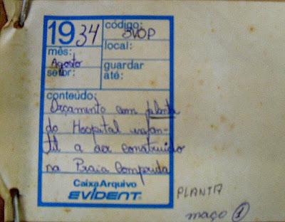 Solicitação de pagamento de gratificação referente à confecção de Projeto do Hospital Infantil, Praia do Canto, Vitória.