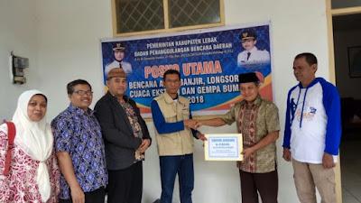 Pegawai Pemkot Salurkan Bantuan ke Korban Gempa Lebak
