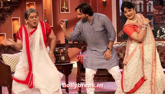 Ali Asgar, Saif Ali Khan and Upasana Singh, Saif ali khan on Comedy nights with Kapil
