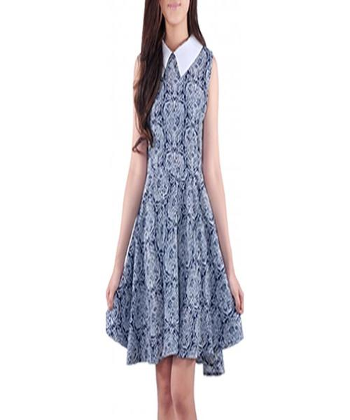 Model Baju Batik Terusan Selutut Kombinasi Polos Elegan ...