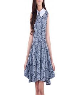 gambar dress pendek batik kombinasi