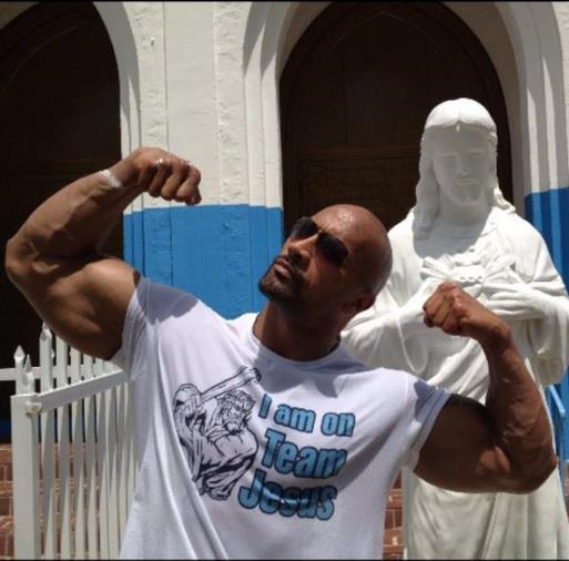 dwayne the rock johnson on steroids