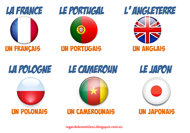 Kraje i narodowości - słownictwo 4  - Francuski przy kawie