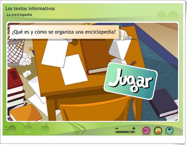 """Los textos informativos: """"La enciclopedia"""" (Actividad interactiva de Lengua Española de Primaria)"""