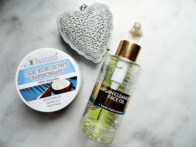 nacomi olej kokosowy garnier płyn micelarny pielęgnacja mycie twarzy oczyszczanie demakijaż bielenda olejek