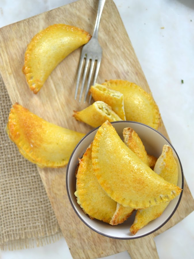 Empanadillas de queso con pan de molde