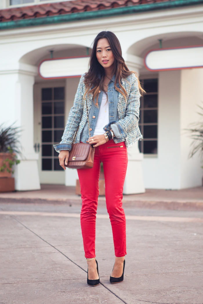 Tweed And Denim In Huntington Beach Song Of Style