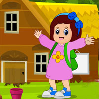 Games4King Happy School Girl Escape