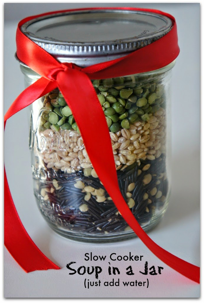 Soup in a Jar for Neighbor Christmas Gifts