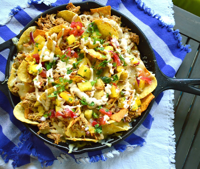 Skillet nachos al pastor