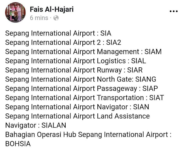 NAMA KLIA DI TUKAR KE SEPANG INTERNATIIONAL AIRPORT ?