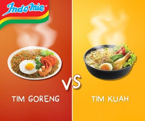 Indomie Goreng Kuah (Tim Goreng VS Tim Kuah)