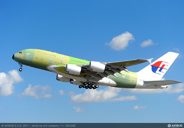 MAS A380 Test Flight