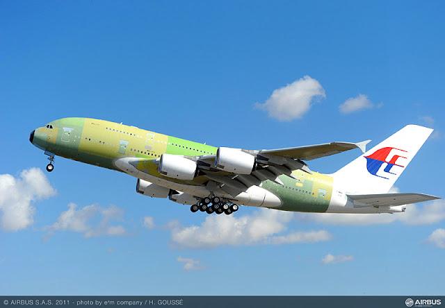 MAS A380 Test Flight