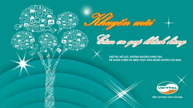"""Viettel triển khai chương trình khuyến mãi """" Cảm ơn khách hàng"""""""
