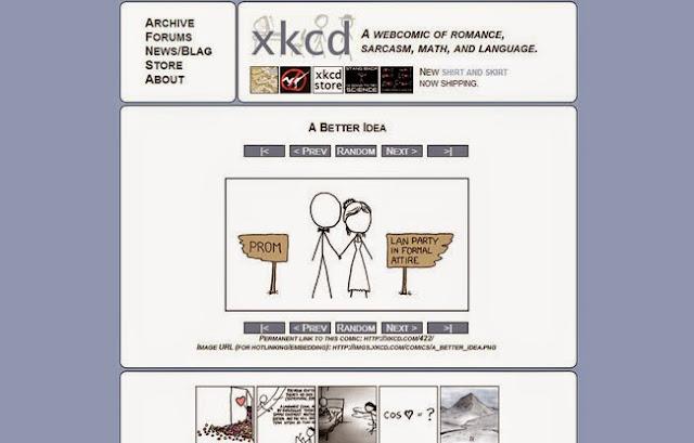 Xkcd um melhores sites web clássicos da internet
